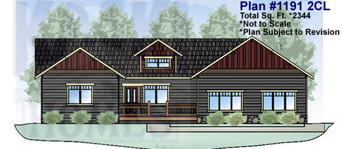 Front Elevation House Plans 2321 Total Sq. Ft.