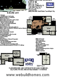 Kaski New Home Features - 2344 Total Sq. Ft.